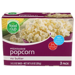 Microwave Popcorn, No Butter