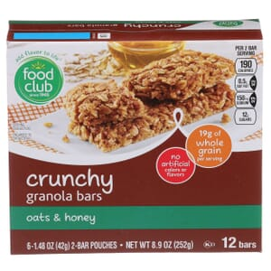 Oats & Honey Crunchy Granola Bars