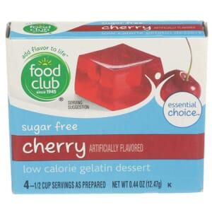 Sugar Free Cherry Low Calorie Gelatin Dessert