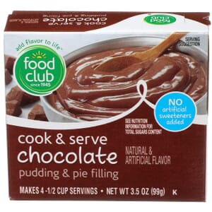 Cook & Serve Chocolate Pudding & Pie Filling