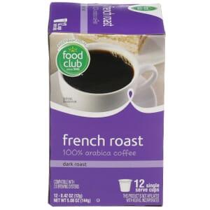 Single Cup Coffee - French Roast 100% Arabica Coffee, Dark Roast