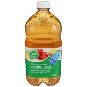 100% Unsweetened Apple Juice