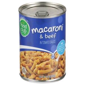 Macaroni & Beef In Tomato Sauce