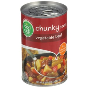 Vegetable Beef Chunky Soup