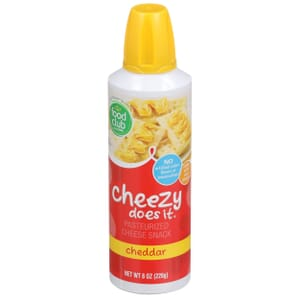 Cheezy Does It, Pasteurized Cheese Snack, Cheddar