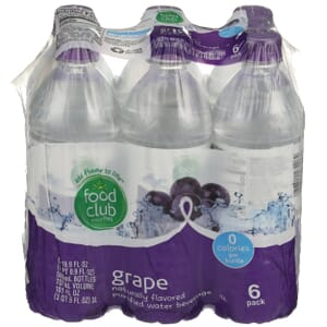 Grape Flavored Purified Water Beverage