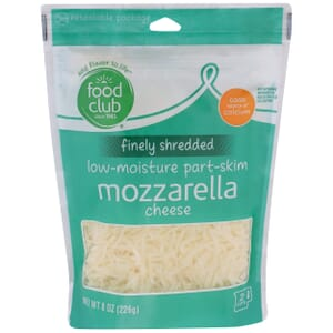 Finely Shredded Mozzarella Cheese