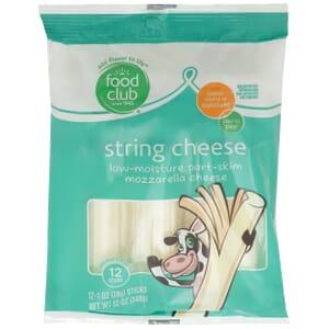 Low-Moisture Part-Skim Mozzarella String Cheese