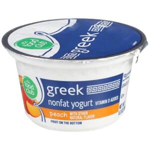 Peach Greek Nonfat Yogurt, Fruit On The Bottom