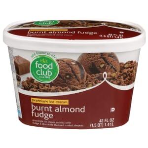 Burnt Almond Fudge Premium Ice Cream