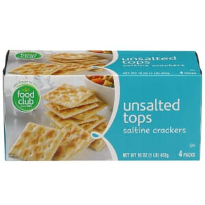 Unsalted Tops Saltine Crackers