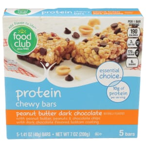 Peanut Butter Dark Chocolate Protein Chewy Bars