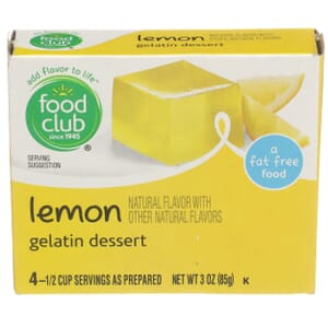 Lemon Gelatin Dessert