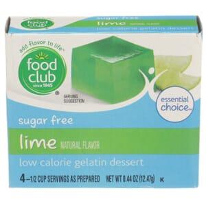 Sugar Free Lime Low Calorie Gelatin Dessert