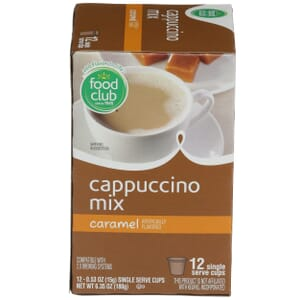 Single Cup Coffee - Cappuccino Mix, Caramel