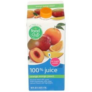 100% Juice, Orange Mango Peach