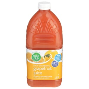 100% Unsweetened Grapefruit Juice