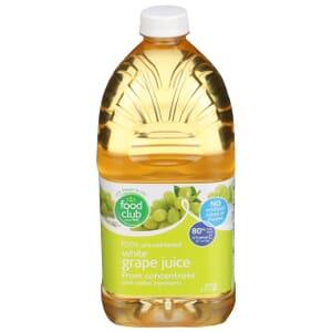 100% Unsweetened White Grape Juice