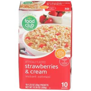 Strawberries & Cream Instant Oatmeal