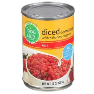 Diced Tomatoes With Habanero Peppers, Hot