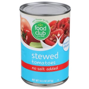 Stewed Tomatoes - No Salt Added