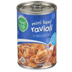 Mini Beef Ravioli In Tomato & Meat Sauce
