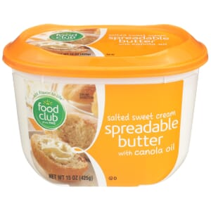 Salted Sweet Cream Spreadable Butter With Canola Oil