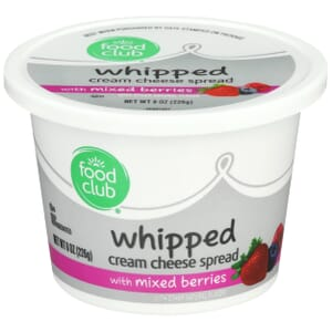 Whipped Cream Cheese Spread With Mixed Berries