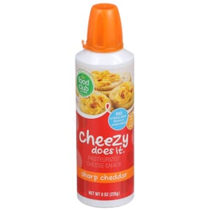 Cheezy Does It, Pasteurized Cheese Snack, Sharp Cheddar