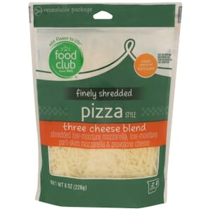 Finely Shredded Pizza Style Three Cheese Blend