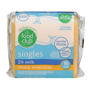 Singles, 2% Milk Sharp American Cheese - Reduced Fat