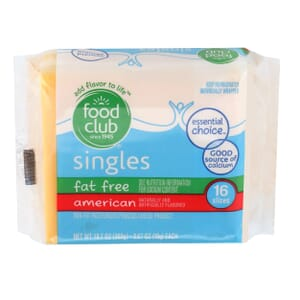 Singles, American Cheese - Fat Free