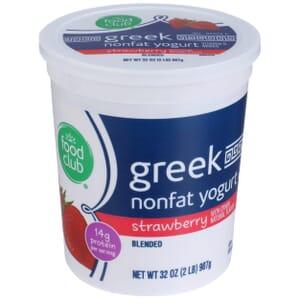 Strawberry Greek Nonfat Yogurt, Blended