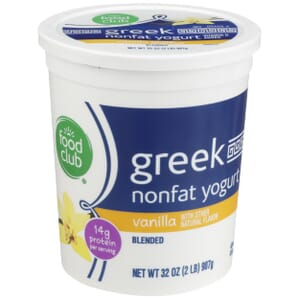 Vanilla Greek Nonfat Yogurt, Blended