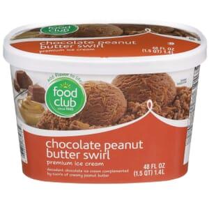 Chocolate Peanut Butter Swirl Premium Ice Cream
