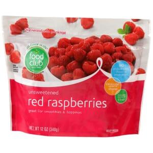 Red Raspberries, Unsweetened