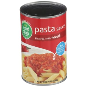 Pasta Sauce Flavored With Meat