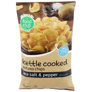 Sea Salt & Pepper Potato Chips, Kettle Cooked