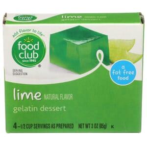 Lime Gelatin Dessert