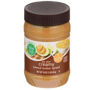 Creamy Peanut Butter Spread, No Stir
