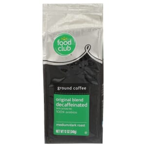 Ground Coffee - Original Blend, Decaffeinated, 100% Arabica, Medium/Dark Roast