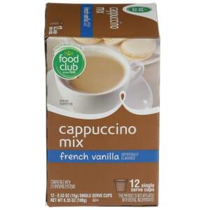 Single Cup Coffee - Cappuccino Mix, French Vanilla