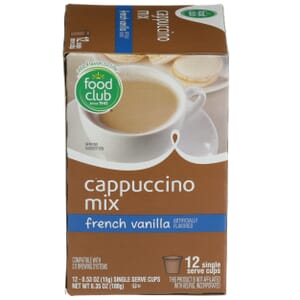 Single Cup Coffee - Cappuccino Mix, French Vanilla