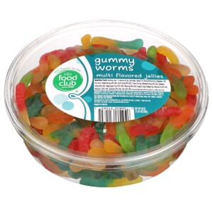 Gummy Worms, Multi Flavored Jellies