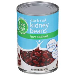 Dark Red Kidney Beans - Low Sodium