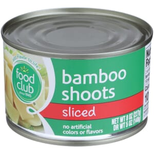 Bamboo Shoots, Sliced