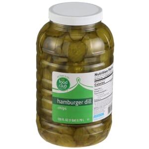Hamburger Dill Chips Pickles