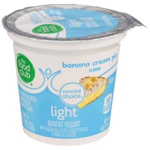 Banana Cream Pie -  Light Nonfat Yogurt