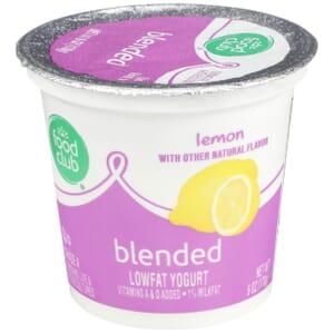 Lemon Lowfat Yogurt, Blended
