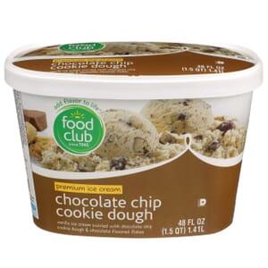 Chocolate Chip Cookie Dough Premium Ice Cream